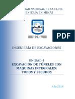 Unidad 4 - Excavación de Túneles Con Maquinas Integrales - Topos y Escudos