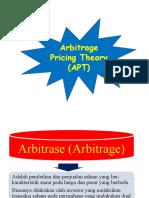 9. Arbitrage Pricing Theory (APT)
