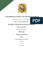 Programa Conductual