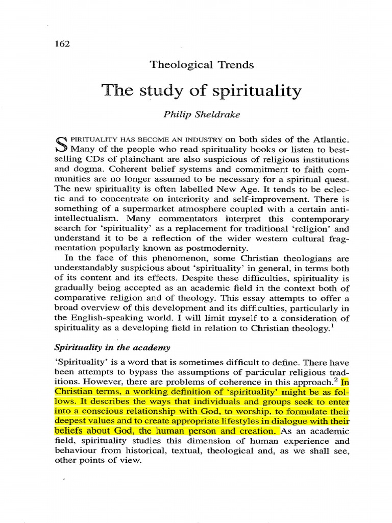 Study of spirituality