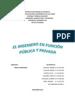 El Ingeniero en Función Pública y Privada