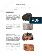 Trabajo de Rocas (Geologia)