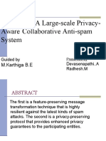 privacy aware collaborative spam detection