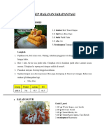 Zat Gizi & Resep Makanan Hari Ke-2 (Baru)