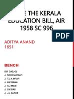 Kerala Education Bill