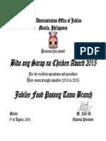 Certificate Award 2016
