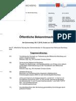 Gemeinderat 20181108 Oeffentliche Bekanntmachung Gemeinde