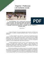 educação física e esporte