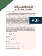 Bateria_Midiendo La Resistencia Interna de Una Batería