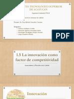 1.5 La Innovacion Como Factor Clave