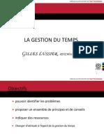 3 Gestion Du Temps 1 Conference