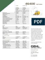 Gehl Sl 4640 4840 5640 6640 Parts Manual