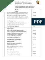 FEMS Fee Schedule (Updated 4-27-17)