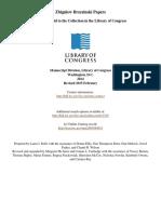 Zbigniew Brzezinski Papers. Library of Congress