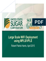 Large Scale WiFi Deployment Using MPLS VPLS