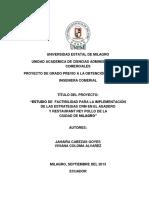 Estudio de Factibilidad Para La Implementación de Las Estrategias CRM en El Asadero y Restaurant Rey Pollo de La Ciudad de Milagro