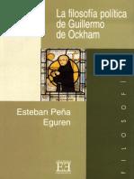 La Filosofía Política de Guillermo de Ockham - Esteban Peña Eguren