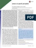 Sensorimotor Influences on Speech Perception in Infancy