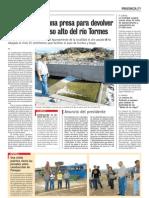 Rebaje de presa en el rio Tormes - Puente del Congosto (Salamanca) por CHD - 2010