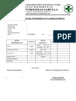 Form Laporan Hasil Pemeriksaan Lab
