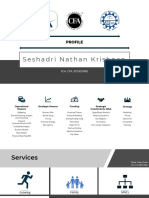 Seshadri Nathan Krishnan Profile and Service Offerings