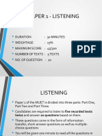 Muet Format for Listening