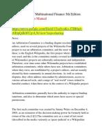 Fundamentals of Multinational Finance 5th Edition Moffett Solutions Manual