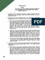 Surat Penyesuaian ISO 17025
