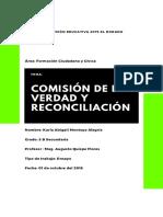 Ensayo Comisión de la verdad y Reconciliación