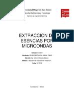 Extraccion de Esencias Por Microondas