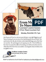 Nazi Looted Art Fordham London Centre November 19