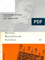 Revista Brasileira do Folclore N°41 - Maio a Agosto de 1976