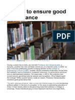 5 Ways to Ensure Good Governance