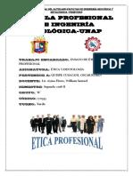 Escuela Profesional de Ingeniría Geológica