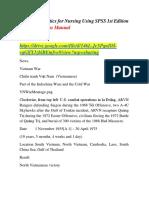 Practical Statistics for Nursing Using SPSS 1st Edition Knapp Solutions Manual
