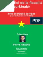 Extrait Essentiel Fiscalité Burkinabè à Jour Et en Cours