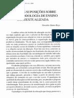 Oswaldo Alonso Rays - Algumas Suposições Sobre Uma Metodologia de Ensino Contextualizada