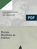 Revista do Folclore Brasileiro N°15 - Maio a Agosto de 1966