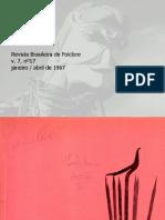 Revista brasileira de folclore N°17 - Janeiro a Abril de 1967