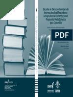 Portada Estudio de Derecho Comparado Internacional Del Precedente