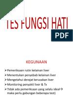 Tes Fungsi Hati