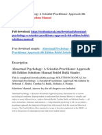 Abnormal Psychology a Scientist Practitioner Approach 4th Edition Beidel Solutions Manual