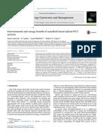Environmental and exergy benefit of nanofluid-based hybrid PV/T