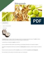 Aceite Coco Hidrogenado Caracterizacion