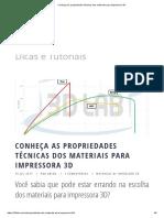 Conheça as Propriedades Técnicas Dos Materiais Para Impressora 3D