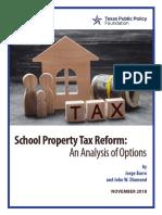 2018 10 School Property Tax Reform CEP Barro Diamond