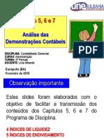 Capítulos 5, 6 e 7 - Análise Das Demonstrações Contábeis (Dc)
