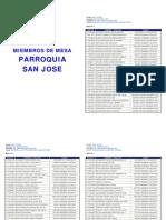 listado de miembros de mesa municipio andres mata, estado sucre