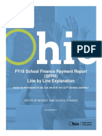 FY2018 School Finance Payment Report Funding Form Line by Line Explanation