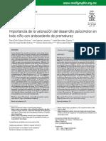 Valoración del desarrollo psicomotor en el prematuro